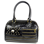 Hello Spank Borsa Bauletto Cinzia Golden Stripes Nero