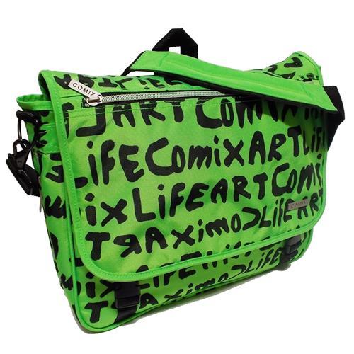 e880d039ca Comix Lettering borsa tracolla messenger verde Scuola 2016-2017 Scontato
