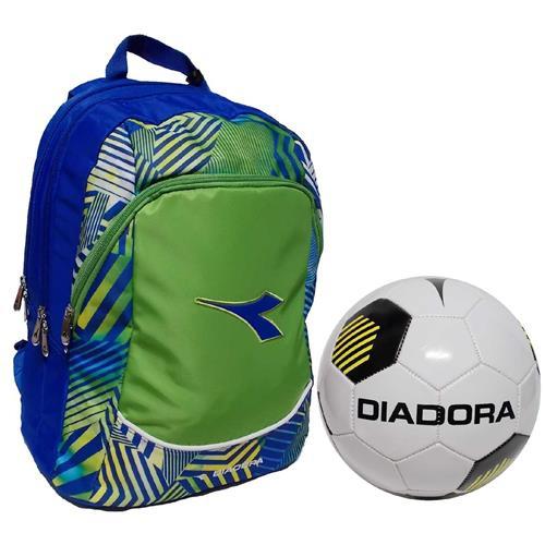 64da2151d8 Diadora zaino advanced verde azzurro GO1 con pallone Scuola 2017 ...