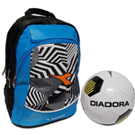Diadora zaino advanced bianco nero GO2 con pallone